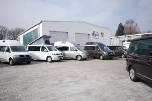 Reisemobile auf dem Dipa-Gelände